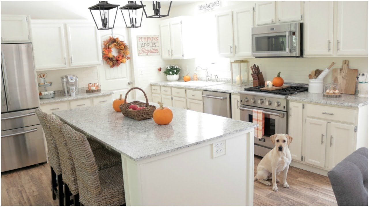 Fall Decorating Ideas - My Fall Kitchen Decor - YouTube on Kitchen Decoration Ideas  id=85569