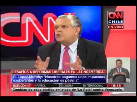 """Ricardo López Murphy: """"Chile es conocido en el mundo por la calidad de sus instituciones"""""""