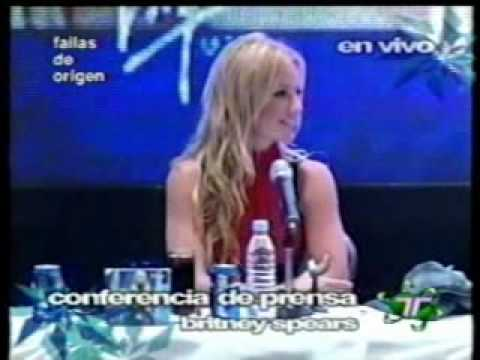 Britney Spears - Press Conference in Mexico City (Part 1)