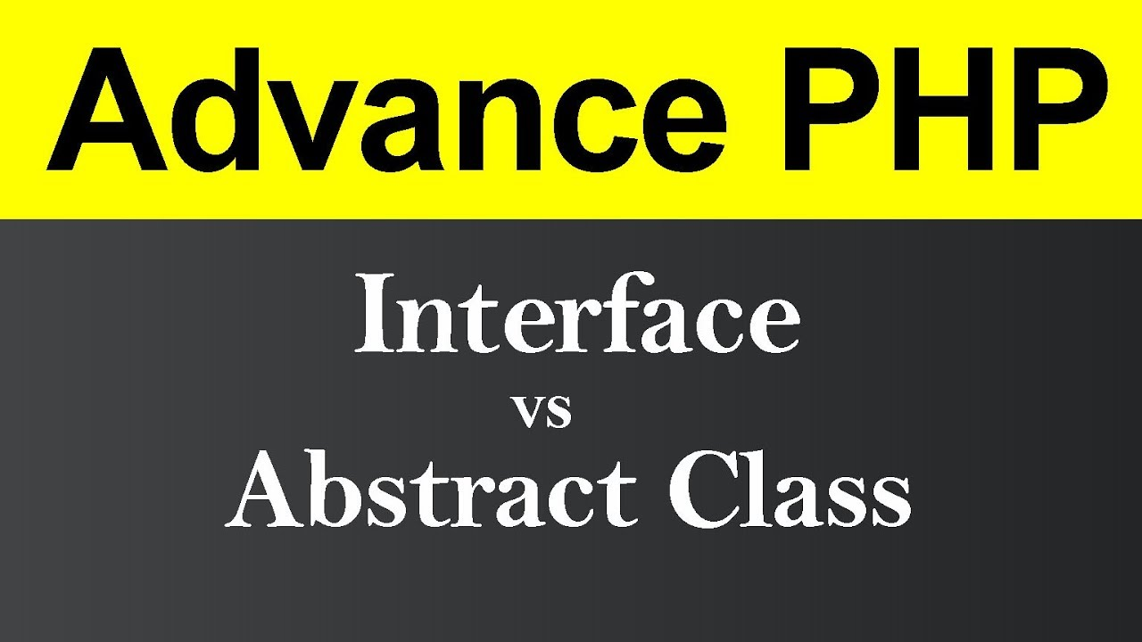Difference between Interface and Abstract Class in PHP (Hindi)