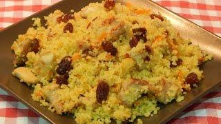Receta facil de cuscus con pollo y pasas