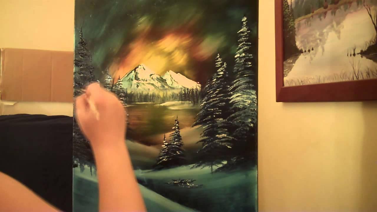 blazen sunset oil landscape speed painting on black