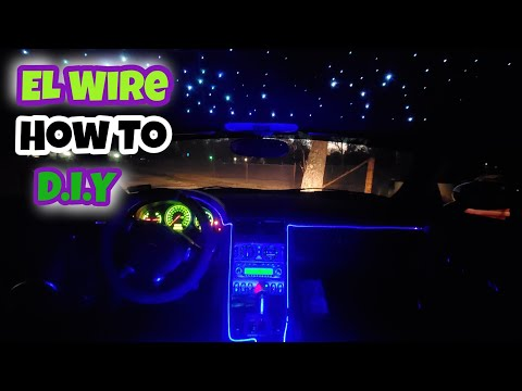 How To Install El wire interior lighting: on my chrysler crossfire Must watch…