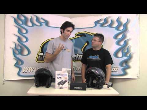 InterPhone F5 Bluetooth Motorcycle Helmet Headset Video Review