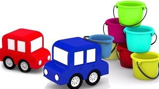 Мультики про машинки. 4 машинки: УЧИМ ЦВЕТА. Развивающие мультики для малышей.