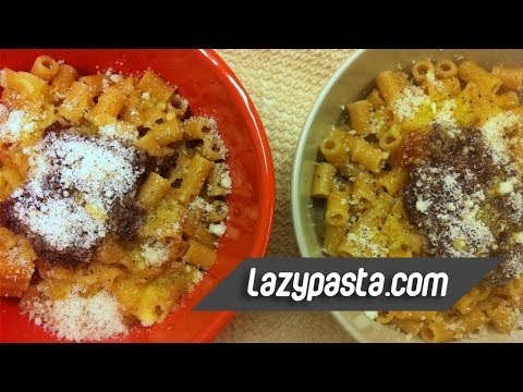 Ditalini With Black Olive Paste And Olive Oil | Easy Pasta Recipes By Lazy Pasta