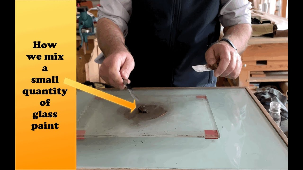 The Glass Painter's Method: how to mix a small quantity of glass paint - YouTube