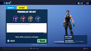 FORTNITE GIFTING SYSTEM IS OUT! Fortnite Battle Royale