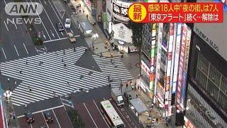 """東京の感染者18人 うち""""夜の街""""関係者が7人 (20/06/10)"""