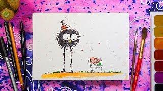 Открытка на 8 марта своими руками   Рисуем сами   Урок рисования