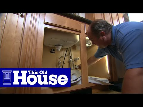How to Repair a Kitchen Sink Drain Trap - This Old House - YouTube