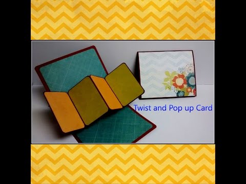 #diy Art and #craft #tutorial : #howto make Twist and Pop up Card