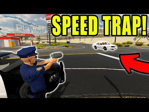 RUNNING HIGHWAY SPEED TRAP | POLICE ACTION | FLASHING LIGHTS