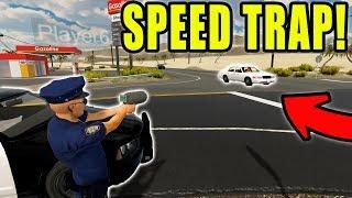 RUNNING HIGHWAY SPEED TRAP | POLICE ACTION | FLASHING LIGHTS