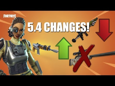 BURST RIFLE OP! Fortnite 5.4 New UPDATE Patch Notes!