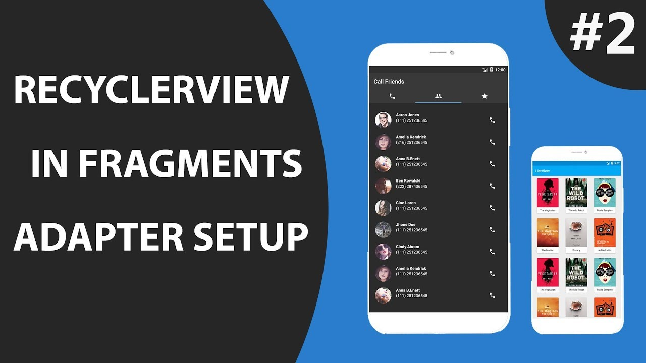 Fragment with Recyclerview Part 2 : Setup Adapter & Bind Data | Android  Studio tutorial