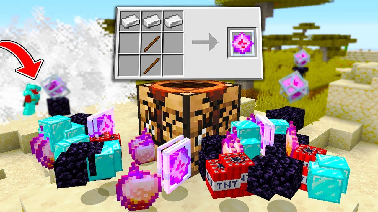Minecraft UHC but drops AND crafting recipes are RANDOM..