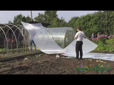 Монтаж на оранжерия с поликарбонат