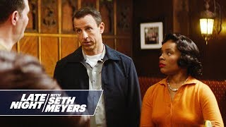 A movie about a black woman who made history and a man who was white when she did. » Subscribe to Late Night: http://bit.ly/LateNightSeth » Get more Late ...