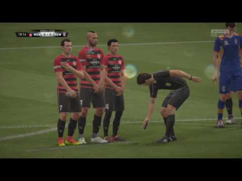 A League 16/17 October 23rd - WS Wanderers vs Newcastle Jets FULL MATCH Simulation