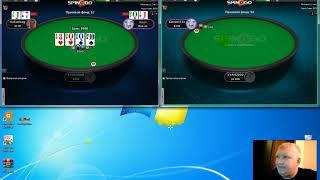 Обучающая игра в Покер Spin and go 1$