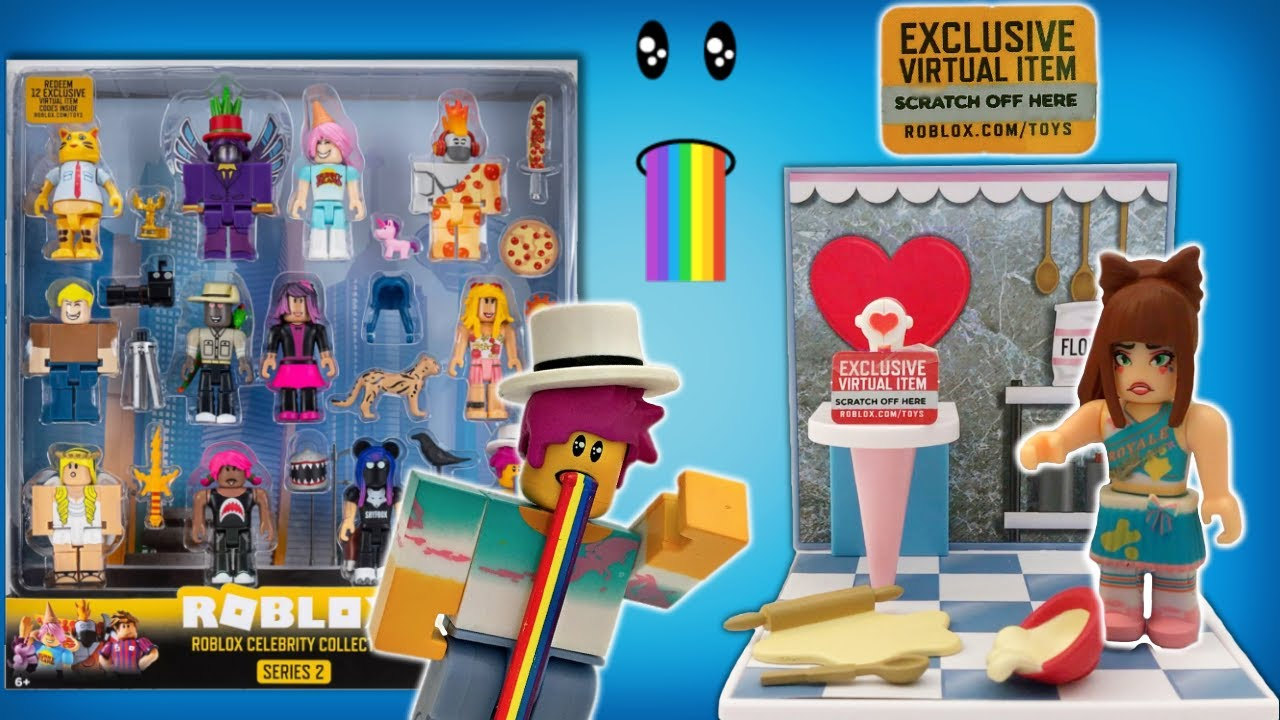 Roblox Ballerina Face Roblox Blind Boxes Celebrity Series 2 Full Case Code Items Unboxing Roblox Figures Roblox Info Youtube
