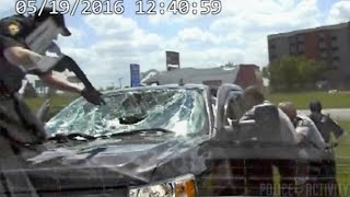 Dashcam Shows Police Chase Of Kidnapping Suspect Ends In Spinout