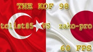 FightCade -  The KoF 98: tolist85 (Turkey) vs zako-pro (Japan) [60 FPS]