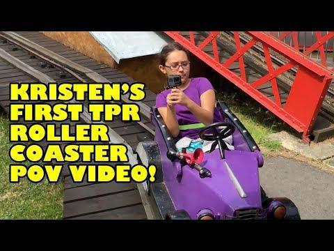 Kristen's First TPR POV!!! Auto BergBahn Roller Coaster Wiener Prater Austria