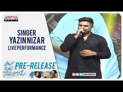 Singer Yazin Nizar Live Performance @ Hello Guru Prema Kosame Pre Release Event | Ram, Anupama | DSP