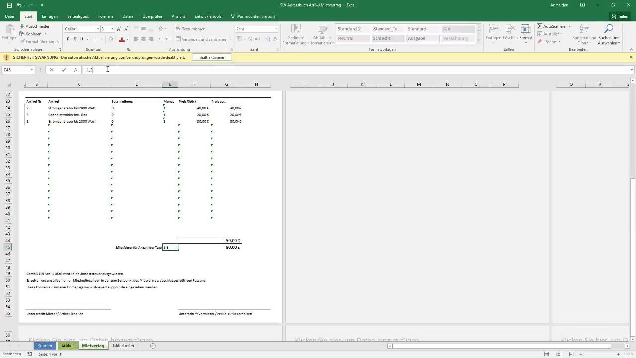 Ziemlich Excel Mietvorlage Zeitgenössisch - Beispielzusammenfassung ...