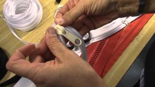 How to Put Pulls on #10 Molded & Coil Zipper