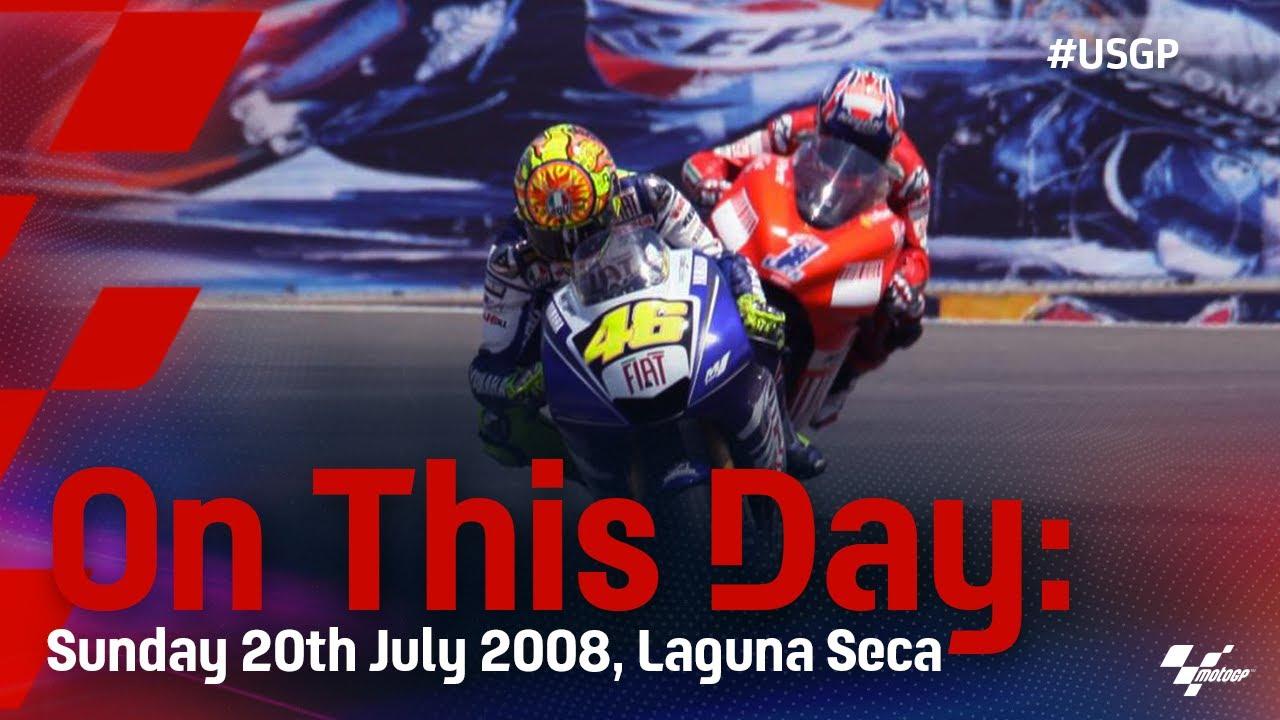Download On This Day: Rossi vs Stoner at Laguna Seca