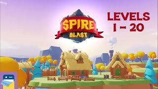 Spire Blast: Levels 1 - 20 Walkthrough & iOS Apple Arcade Gameplay (by Orbital Knight)