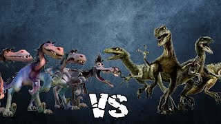 Velociraptor Fight: Rustlers vs Raptor Squad