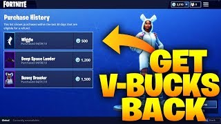 FORTNITE HOW TO REFUND OUTFITS/SKINS!!!! - Fortnite: Battle Royale GET V-BUCKS BACK!!