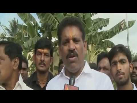 YSRCP MLAs Hoists Party Flag in Chittoor district - 14th Nov 2016