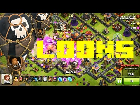 Clash of clans lvl 6 rage balloon attack bonbee style! BY SUMIT