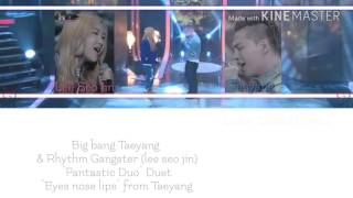 """Fantastic Duo"" Taeyang & Lee seo jin - Eyes nose lips Color Coded Lyrics [Kpop]"