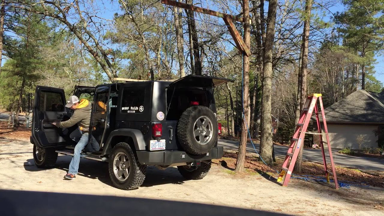 Jeep hardtop hoist without a garage part 1 youtube jeep hardtop hoist without a garage part 1 solutioingenieria Image collections