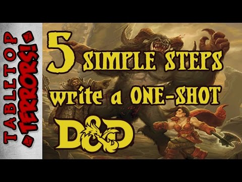 D&D Adventure - Make One in 5 Steps (Daily Damage) #vlog (Run single serving roleplaying games)