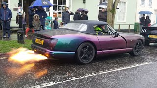 TVR chimera flames and loud revs in horsham
