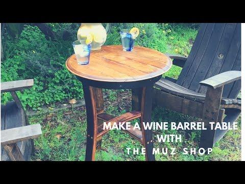 DYI Wine Barrel Table