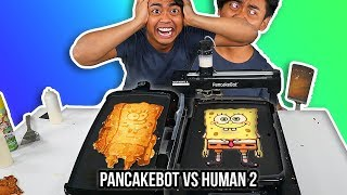 I Tried To Pancake Art Vs A Pancake Art Robot (Round 2) by : Guava Juice