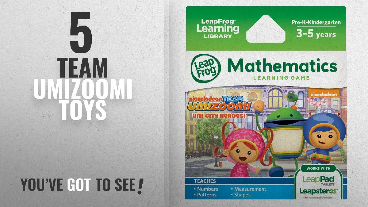 Top 10 Team Umizoomi Toys [2018]: LeapFrog Team Umizoomi Learning Game: Umi City Heroes (for LeapPad