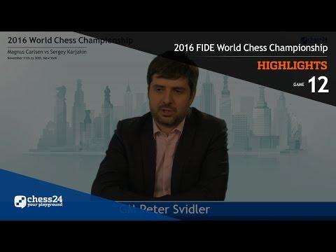 2016 FIDE World Chess Championship - Highlights - Game 12