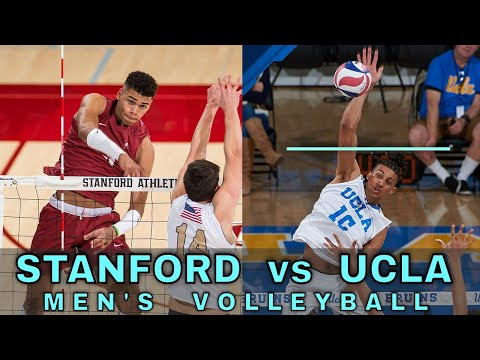 STANFORD Vs UCLA   Men's NCAA Volleyball (2/8/20)