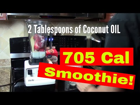 Strawberry Banana Coconut Smoothie Delicious Meal Replacement Shake