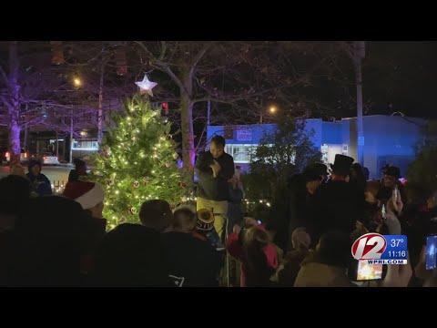 Christmas tree lighting held in Riverside Square