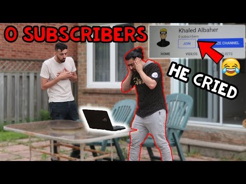 0 SUBSCRIBER PRANK ON BROTHER! (HE CRIED)